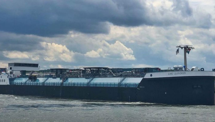 Europe's first inland waterway LNG bunker vessel begins