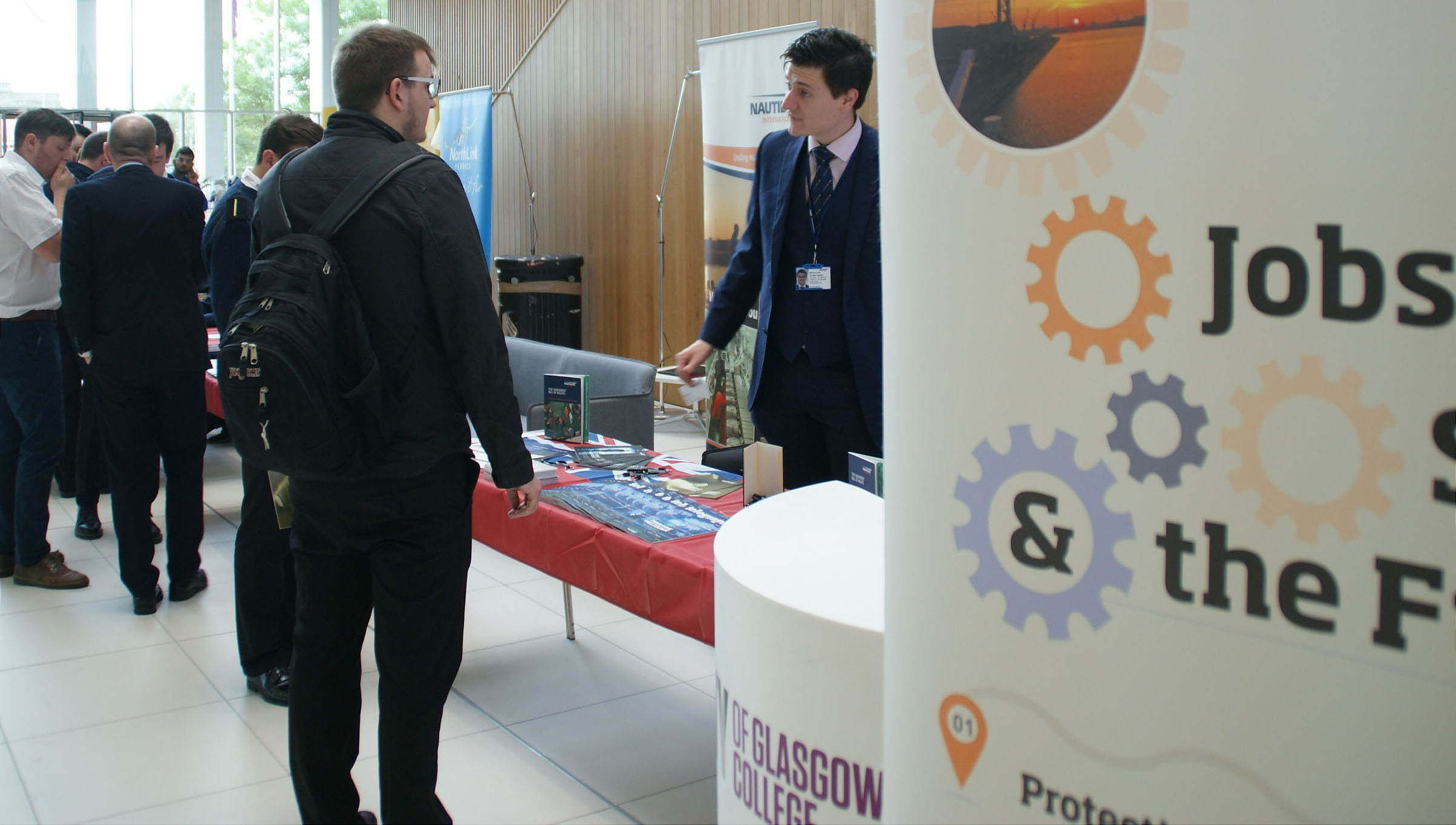 Nautilus Internatonal stages jobs event at City of Glasgow College