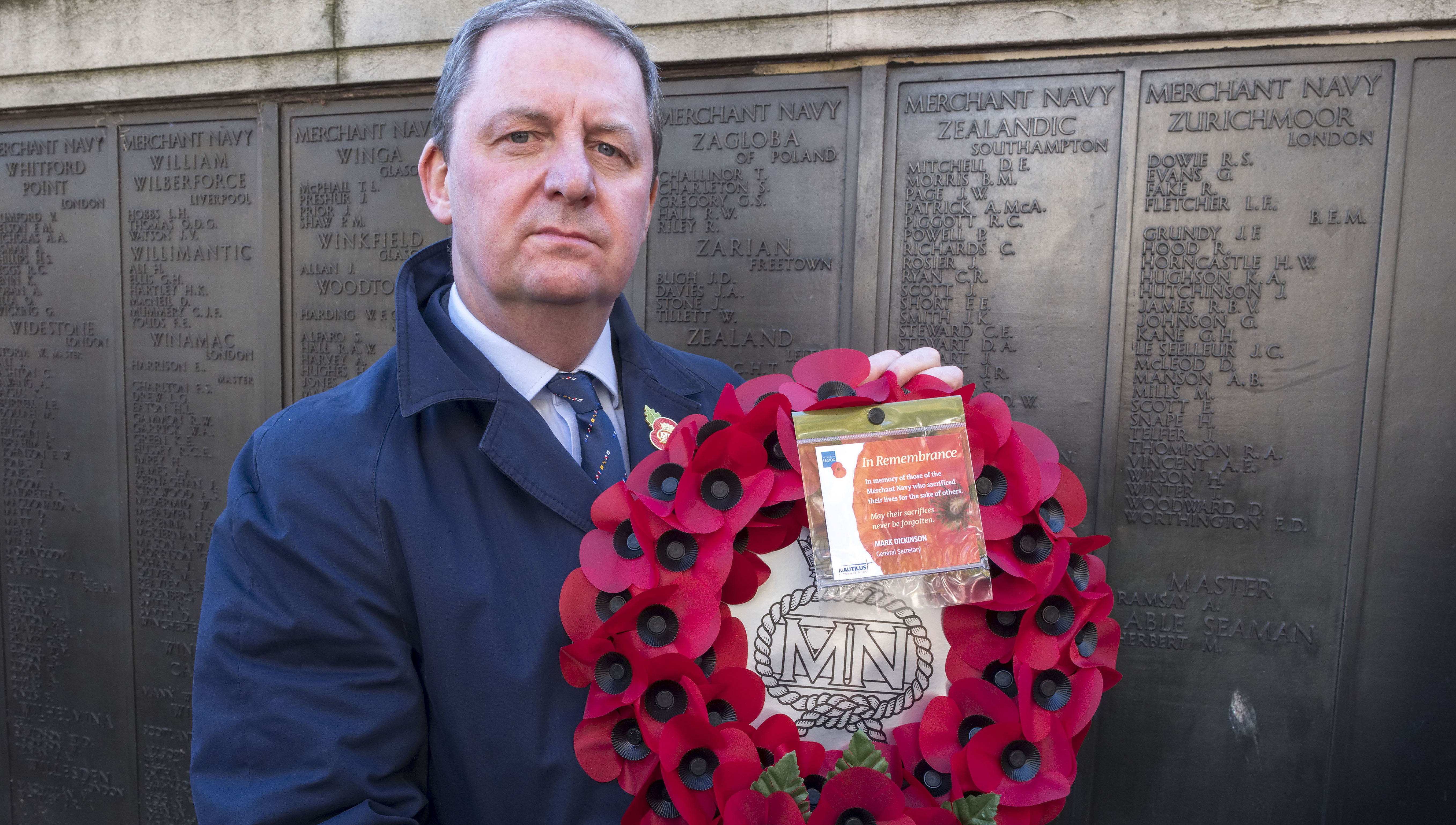 Nautilus news: Merchant Navy victims of war are honoured