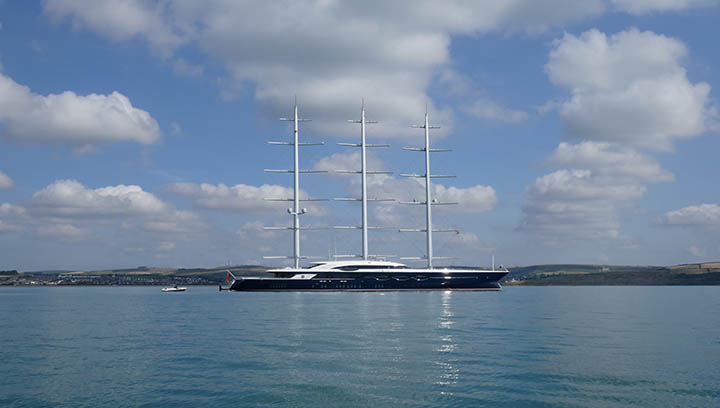 Unique Three Masted Sailing Yacht Black Pearl Turns Heads At
